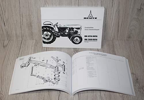 DEUTZ Ersatzteilliste Ersatzteilkatalog Traktor D 2505 D3005