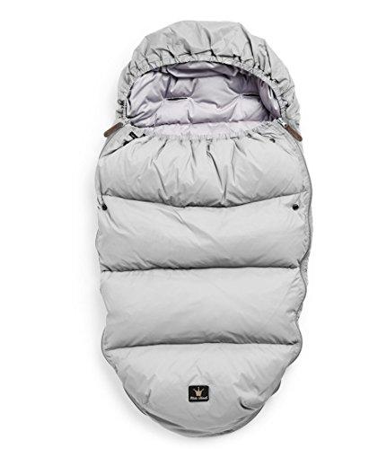 Elodie Details Marble Grey Gris saco de dormir para bebé - Sacos de dormir para bebés (Gris, Monótono, Feathers, down, Cremallera, Lavado a máquina)