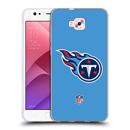 Head Case Designs Oficial NFL Claro Logotipo de Titanes de Tennessee Carcasa de Gel de Silicona Compatible con Zenfone 4 Selfie ZD553KL