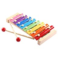 Soota Musical Instruments Toy Xylophone for babies, Holiday/Birthday Gift, Wooden Musical Instrument with Bright Multi-Colored Bars and Child-Safe Mallets (Xylophone)