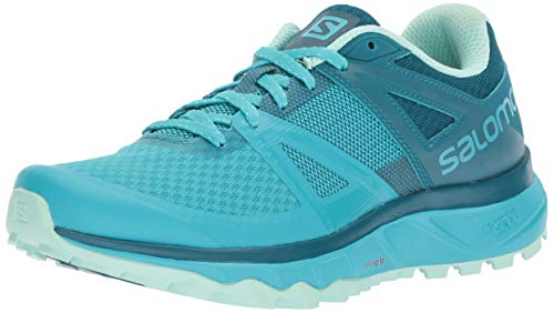 Salomon TRAILSTER W, Damen Traillaufschuhe, Blau (bluebird/deep lagoon/beach glass), 38 EU