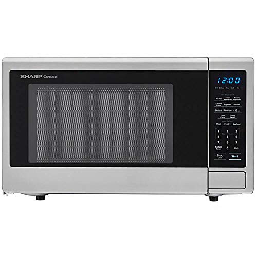 Sharp Carousel 1.1 Cu Ft Stainless Steel Microwave Oven (Renewed)