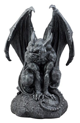 Ebros Gift Large Cathedral Guardian Crouching Winged Gargoyle Statue 12.5' H Gothic Warden Protector from Evil Spirits Underworld Dark Arts Fantasy Sculpture