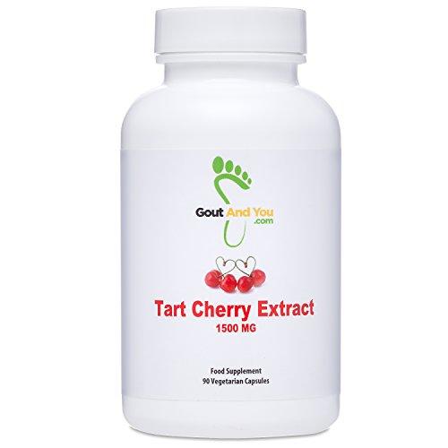 Extracto de cereza agria Gout and You - Altamente potente- 1500 mg - 90 Cápsulas