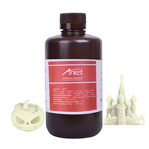 Aibecy 3D Printer Resin, General-Purpose Rapid Resin 405nm Standard Photopolymer Curing Resin Low Odor Safe 250ml for DLP/LCD Light Curing 3D Printer
