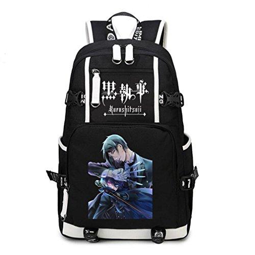 YOYOSHome Anime Black Butler Cosplay Bookbag College Bag Daypack Laptop Tasche Rucksack Schultasche