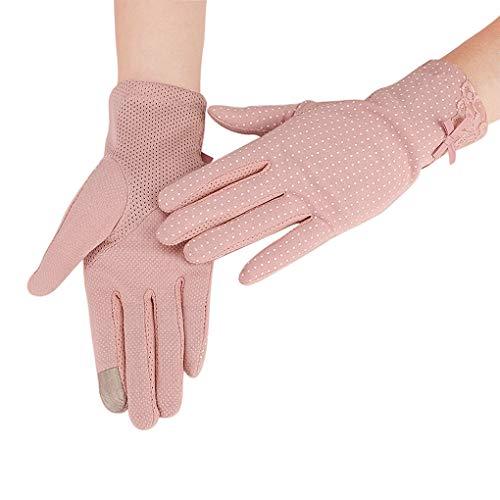 YJZQ - Guantes de conducir para mujer, con dedos completos, con malla de algodón, para ciclismo, gimnasio, fitness, entrenamiento, carreras, sin dedos, de silicona, antideslizantes, transpirables