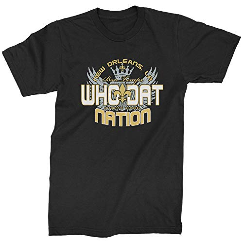 Expression Tees Mens (Color) Who Dat Nation New Orleans T-Shirt XX-Large Black