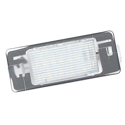 GOFORJUMP 2X Canbus 3528SMD LED Plaque d'immatriculation Plaque de numéro de lumière Lampe de Voiture Ampoules pour O/pel V/ectra C Estate 2002-2008 Source de lumière de Voiture