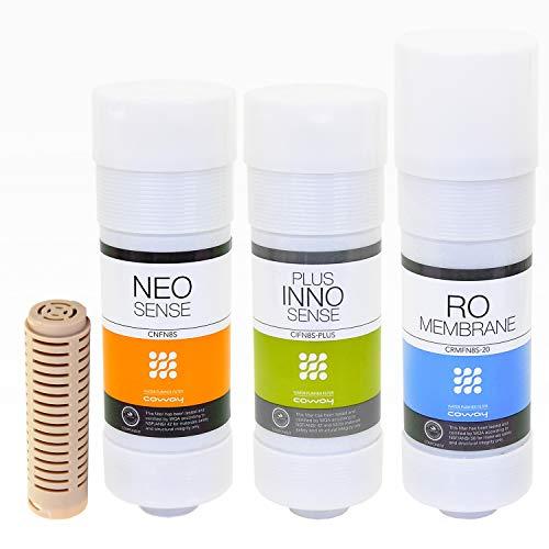 Coway Filterset XL Wasseraufbereitungsanlage Ersatzfilter Wasseranlage CHP-06DL, CHP-250L, P-07CL, P-220 / NEO Sense + Plus INNO Sense + RO Membrane + Keramikfilter LGL