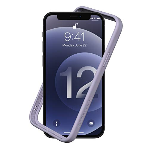 RhinoShield Bumper Case Compatible with [iPhone 12 Pro Max] | CrashGuard NX - Shock Absorbent Slim Design Protective Cover 3.5M / 11ft Drop Protection - Lavender