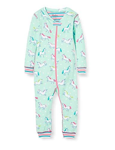 Hatley Organic Cotton Sleepsuits Pyjama, Bleu (Licornes Prancing 400), 1 Mois Bébé garçon