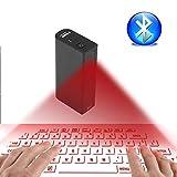 Roboraty Virtuelle projektionstastatur, 4-In-1-Powerbank Mit 5200 MAh, Maus, Bluetooth-Lautsprecher, Sprachtastenfunktion, Tragbares...