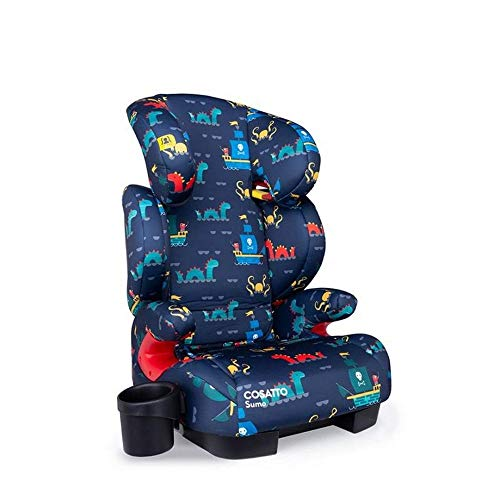 Cosatto Sumo Child Car Seat   Group 2/3, 15-36 kg, 4-12 years, ISOFIT, High Back Booster, 9 Headrest Positions, Reclines (Sea Monster)