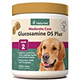 NaturVet – Glucosamine DS Plus - Level 2 Moderate Care – Supports Healthy Hip & Joint Function – Enhanced with Glucosamine, MSM & Chondroitin – for Dogs & Cats–120 Soft Chews