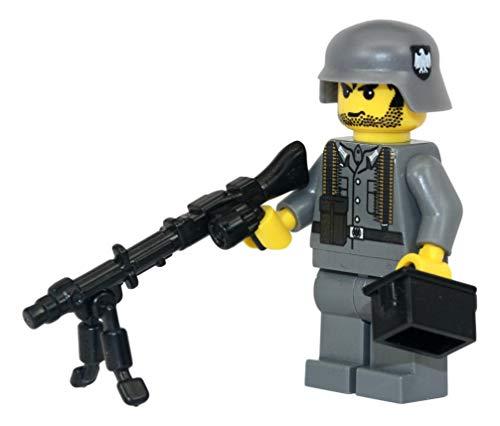 German WW2 MG34 Soldier - Modern Brick Warfare Custom Minifigure