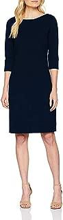 Marc O´Polo Grey Line Damen Kleid Abendkleid Cocktailkleid Knielang mit Ärmeln in dunkelblau elegant
