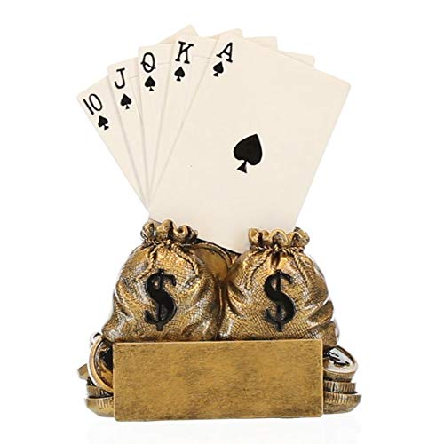 Poker Champion Trophy - Texas Hold 'em Award - 6 Inch Tall - Customize Now