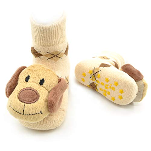 Amazing Deal Brown Dog Boogie Toes Rattle Sock, 1-Pair (1-2Y)