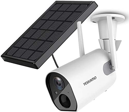 Solar Security Camera Wireless Outdoor Rechargeable Battery WiFi Camera YESKAMO 1080P HD Video product image