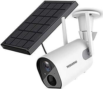 Yeskamo 1080P HD Video Solar Powered IP Security Cameras