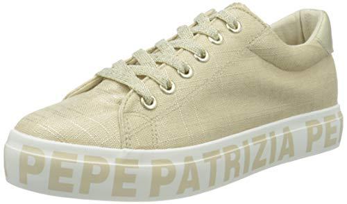 Patrizia Pepe Kids PPJ63, Scarpe da Ginnastica Donna, Platino, 38 EU