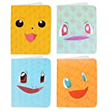 Totem World 4 Mini Album for Pokemon Cards - Each Mini Binder Album Holds 60 Cards - Top Load Sleeves Included - Protect Your Deck in Style - Inspired by Pikachu, Charmander, Squirtle, and Bulbasaur
