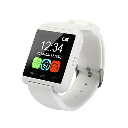 YDL Rastreador De Fitness Pedómetro De Ritmo Cardítico Monitor Bluetooth Teléfono Smart Watch para iPhone iOS Android Smart Phone (Color : White)