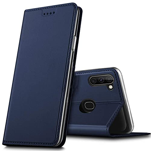 Verco Handyhülle für Samsung Galaxy M11, Samsung A11 Premium Handy Flip Cover für Samsung M11 Hülle [integr. Magnet] Book Hülle PU Leder Tasche, Blau