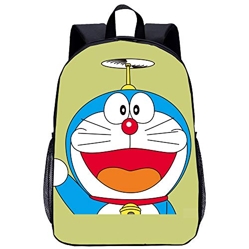 BATEKERYAS Mochila con Estampado De Dibujos Animados De Doraemon, Impermeable, Incorporada, De Gran Espacio, para Computadora, Mochila Escolar [ C, 38 * 12.5 * 30cm ]