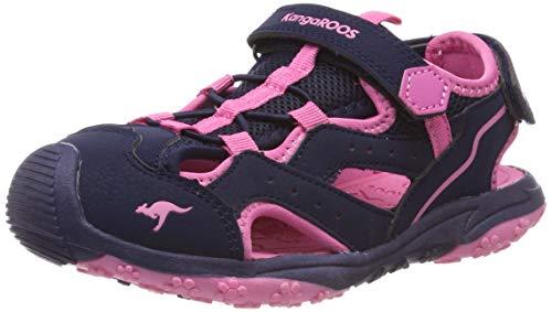 KangaROOS K-Cali Unisex-Kinder Sandalen, Blau (Dark Navy/Daisy Pink 4204), 40 EU