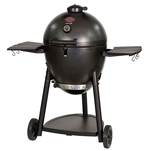 Char-Griller 96619 Akorn Kamado Kooker Combo with Grill Cover with Cooking Stone, Graphite