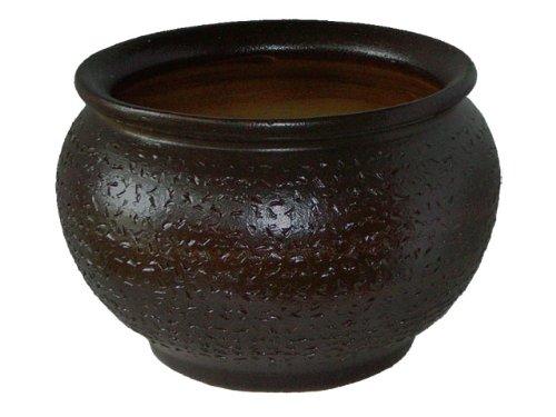 K & K Pot de Watzmann, 48 x 35 cm, marron, en céramique de frostbeständiger Grès