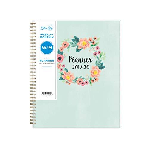 Blue Sky 2019-2020 Planificador semanal y mensual de año académico, 21.59 cm x 27.94 cm