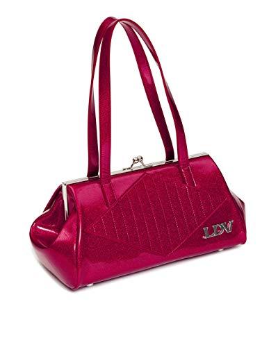 Lux De Ville High Roller Kiss Lock Handtasche mit Rolle Diamond, Pink (Razzberry Sparkle), Large