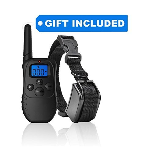 eXuby Dog Training Collar with Remote and Dual Charger - 3 Mode Dog Training (Sound, Vibration & Shock) - Correct Any Behavior with Rechargeable Batteries