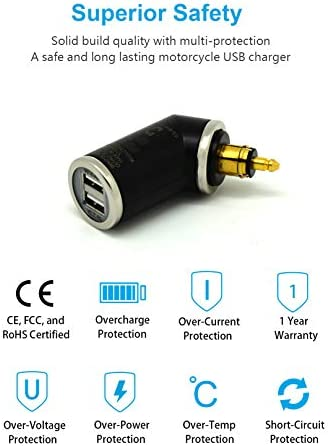 Cliff Top 28 W Motorcycle Usb A Usb C Hella Din Charger Compatible With Bmw Motorcycles Elektronik