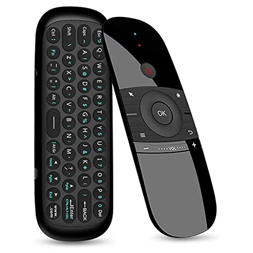 HEYLULU TV Remote Air Mouse con Mini Teclado 2.4GHz Wireless Fly Mouse Touchpad para Smart TV Laptop TV Box Wireless Air Mouse