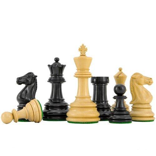 The Regency Chess Company Cheltenham Ébène De Muxe Échecs Pièces 3. 1.9cm