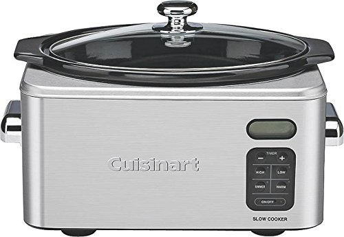 Cuisinart 6.5 qt Programmable Slow Cooker, Silver