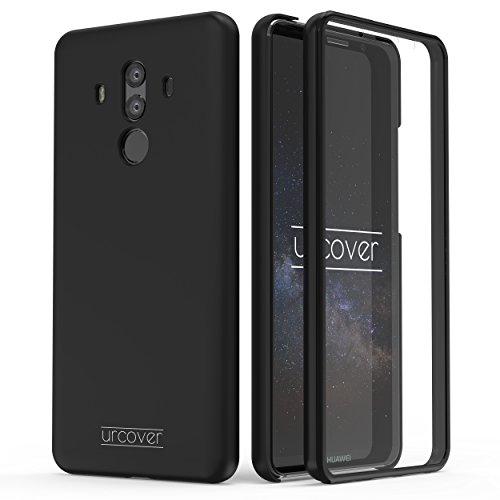"""Hülle kompatibel für Huawei Mate 10 Pro """"Touch Case 2.0"""" I 360 Grad Rundum-Schutz Full Cover [Unbreakable Case bekannt aus Galileo] Crystal Clear Schwarz Full Body Case"""