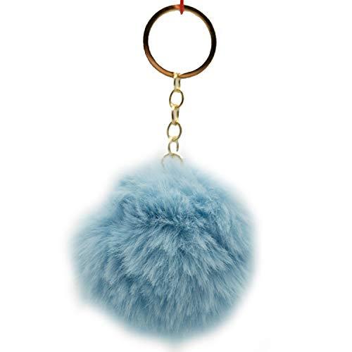 Pom Poms - Portachiavi con pompon, azzurro (Blu) - 22032021194RK-003