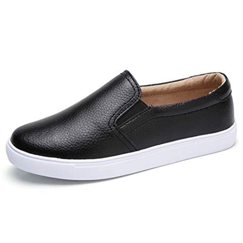 Femmes Mocassins Chaussures Respirant en Cuir de Couleur Unie Slip on Low Top Appartements Femme Vulcanized Chaussures Dames Casual Conduite Chaussures