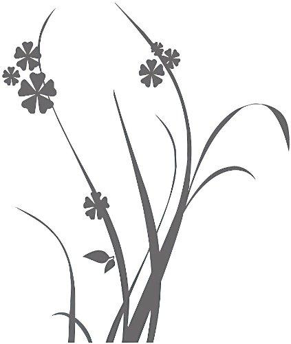 infactory Wanddekoration: Wand-Tattoo Sommergräser 200 cm hoch (Wandklebebilder)