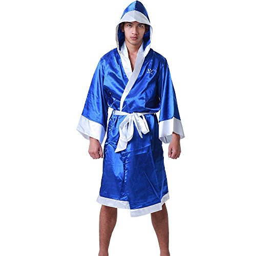 Wesing Boxing Robe with Hood Boxing Robe for Men and Women Boxing Robe Satin
