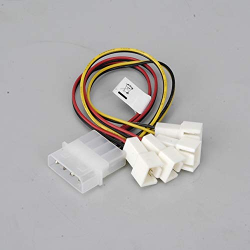Y-kabel ventilator PC Akasa [4 x ventilator PC mannelijk 3-polig - 1 x, IDE mannelijk 4-polig] 0,15 m