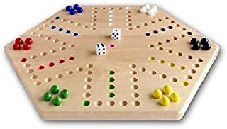 AmishToyBox.com Maple Hand-Painted Double-Sided Aggravation Game Board, 16