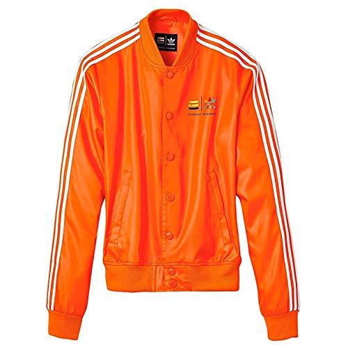 adidas Pharrell Williams' Consortium X Track Z97399 - Chaqueta para hombre, Hombre, Chaqueta, Z97399, naranja y blanco, S