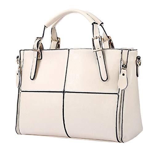 Darringls Borse Donna, Borse a Mano Borse Tote Elegante Borse Tracolla Casual Borse a Spalla Retro Impermeabile in Pelle Artificiale Retro Large-Capacity Handbag Wild Shoulder Bag