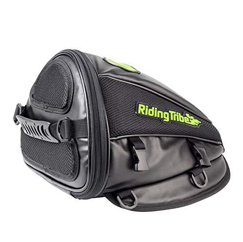 CompraJunta Sac de Moto pour siège arrière, Cuir imperméable en PU+Poliester (300 * 280 * 210mm), Sac bandoulière 1.0L